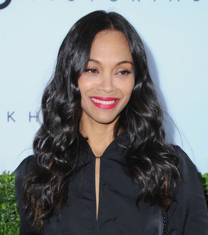 zoe saldana looked like a cool witch at victoria beckham�s