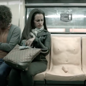 """Mexico City installed a for-men-only """"penis seat"""" on the subway for a powerful reason"""