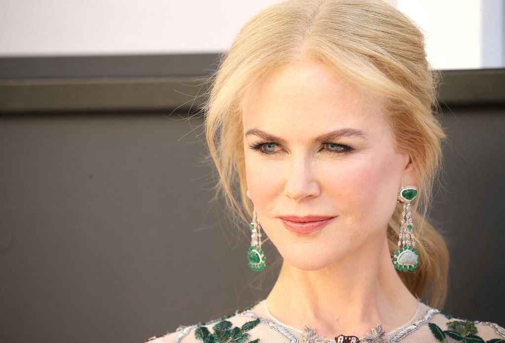Nicole Kidman's love of nature-themed gowns continues with this leaf-covered dress