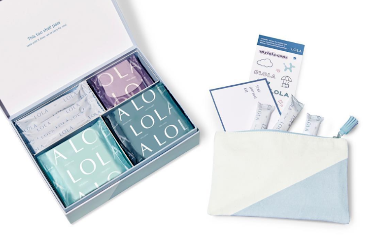 The tampon delivery service LOLA has launched a first period kit, and it is genius