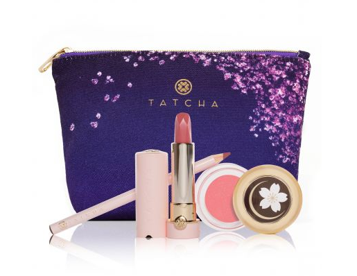 Tatcha's new Cherry Blossom Lip Trio is basically a contour kit for your lips