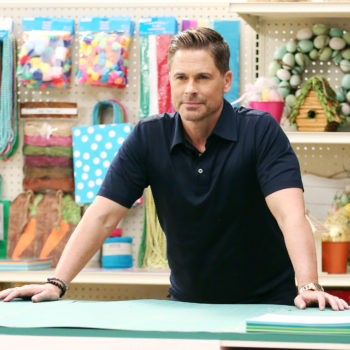Please enjoy Rob Lowe trying *SO* hard to make a children's diorama