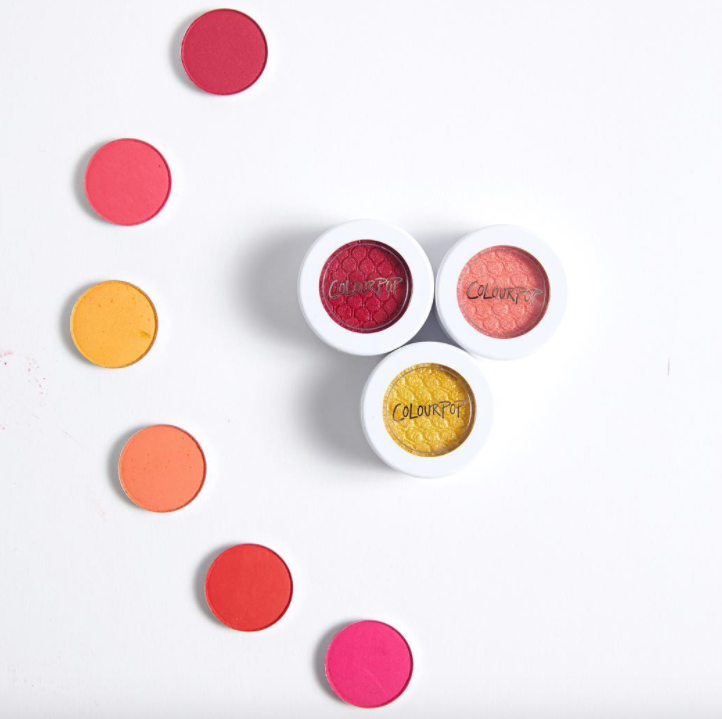 ColourPop's Sunset eyeshadow collection just dropped, and it totally reminds us of Starburst candy