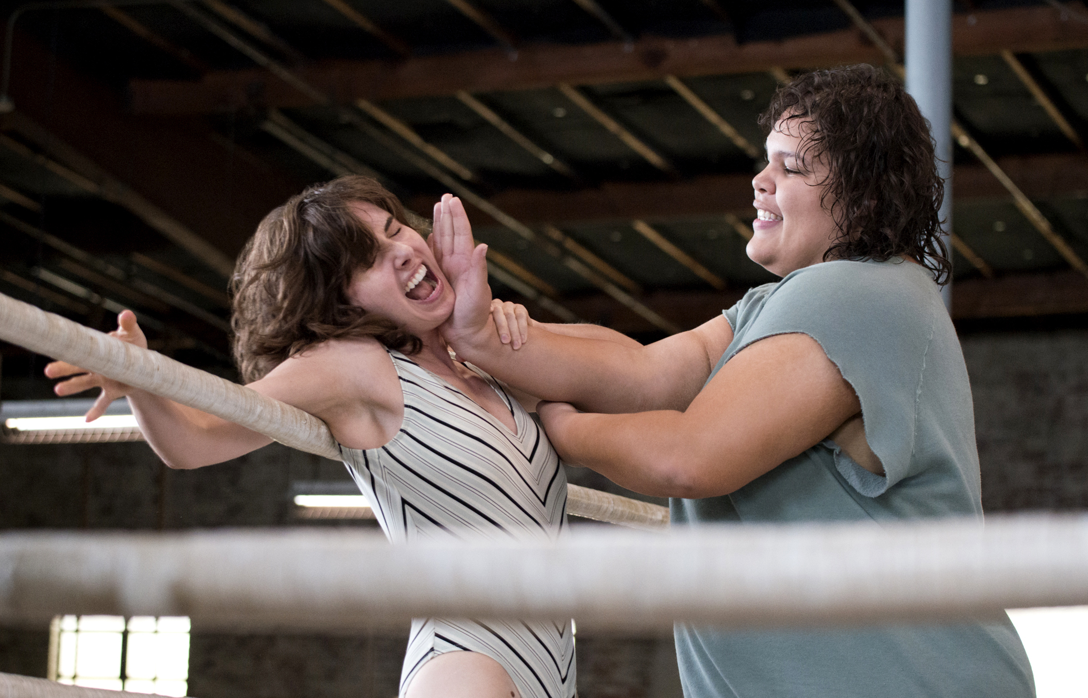 "The '80s are alive and well in the first pictures for Alison Brie's new Netflix series, ""Glow"""