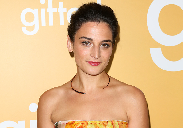 Jenny Slate ditches her tee in this stunning shirtless suit look