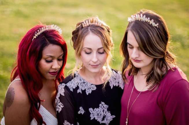 This glorious crystal crown is perf for Coachella, and basically every day of your life