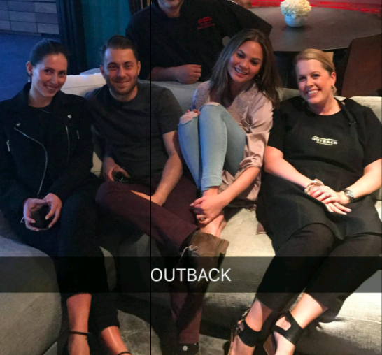 Outback Steakhouse taught Chrissy Teigen to make a Bloomin' Onion, but it was so intense that SHE FELL ASLEEP