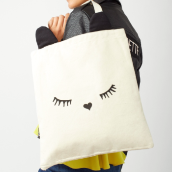 This canvas cat ear tote bag is the only good way to spend your tax refund