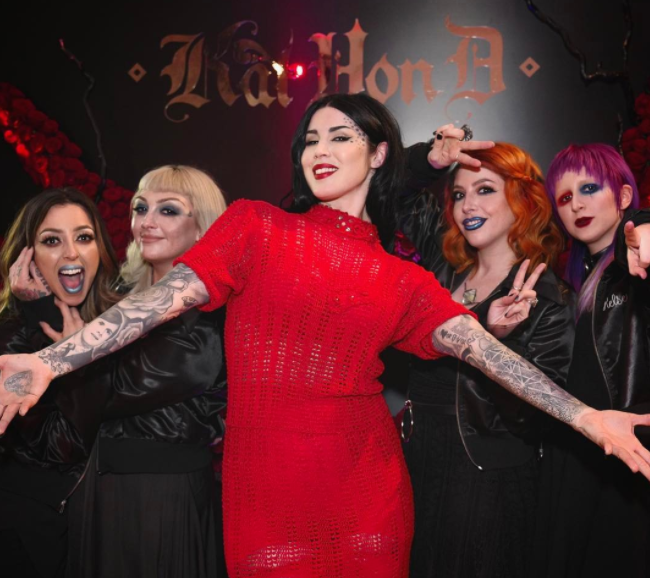 You'll soon be able to gaze at yourself in Kat Von D's gothic handheld mirror