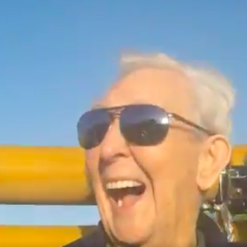 Watch this 105-year-old man have the time of his life on a roller coaster (and break a world record!)