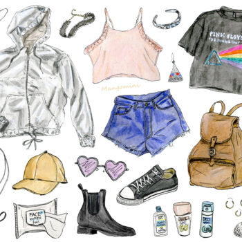 Your musical festival style, illustrated