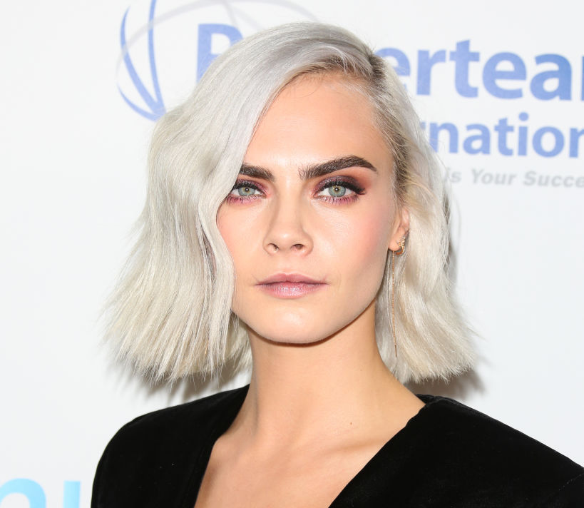 Cara Delevingne took the little black dress and lit it on fire with embellishments