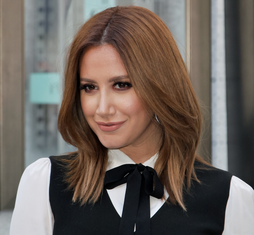 Ashley Tisdale is a pin princess with this incredible jean jacket