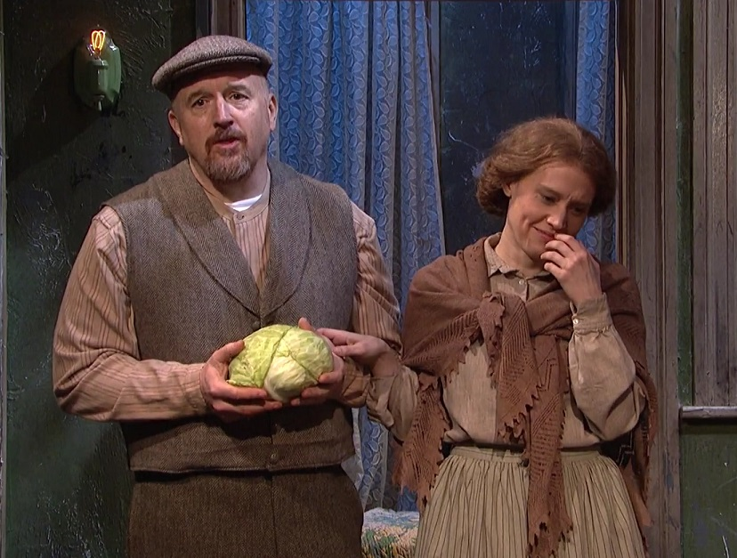 "Kate McKinnon and Louis CK could not stop cracking up during this ""Saturday Night Live"" sketch"
