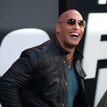 "The Rock couldn't leave the ""Fate of the Furious"" red carpet without throwing down a hilarious insult for Jason Statham"