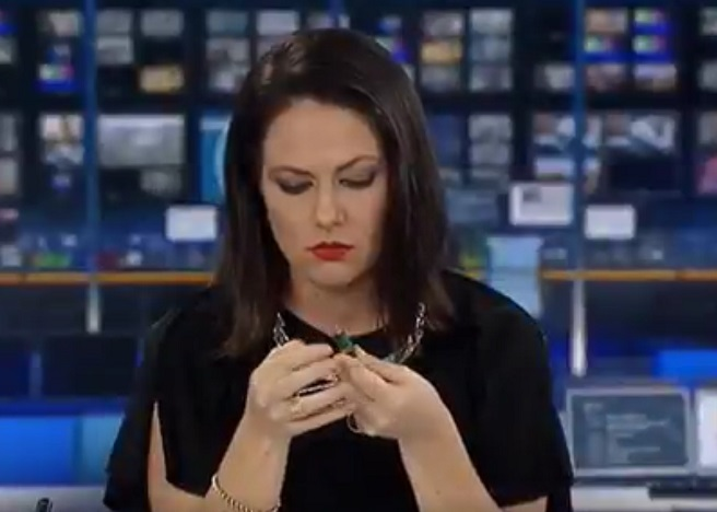 We are laugh-crying at this poor newscaster who didn't realize she was on air because we'd do exactly the same thing