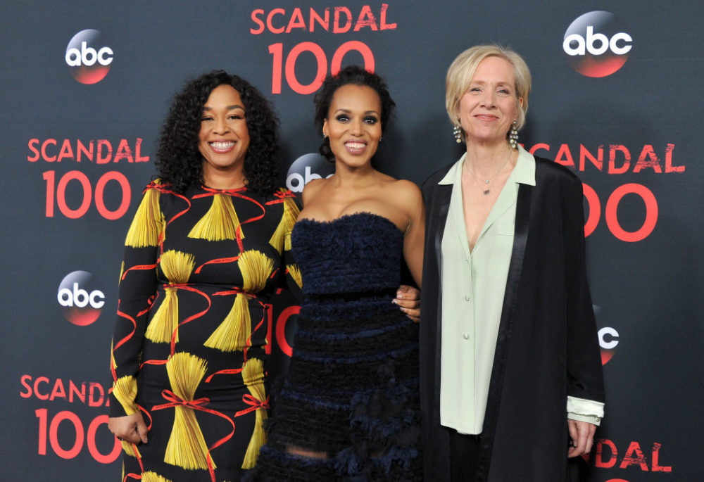 "The ""Scandal"" cast celebrated their 100th episode with an incredibly glamorous party"