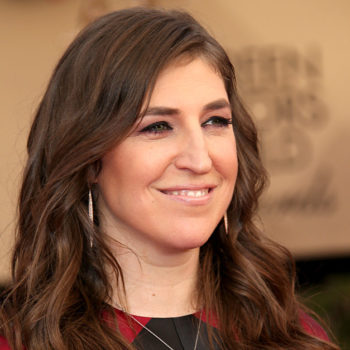 This shot of Mayim Bialik prepping for Passover is all of us during the holidays