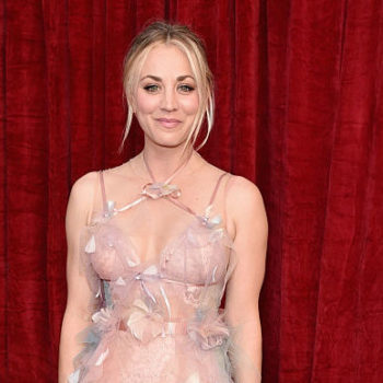 Kaley Cuoco's retro sports bra must have been inspired by a '70s yoga class
