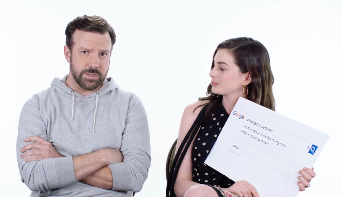 Jason Sudeikis and Anne Hathaway answered the most Googled questions about themselves