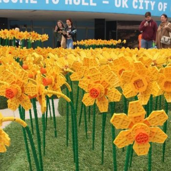 This field of LEGO daffodils is proof that spring has sprung