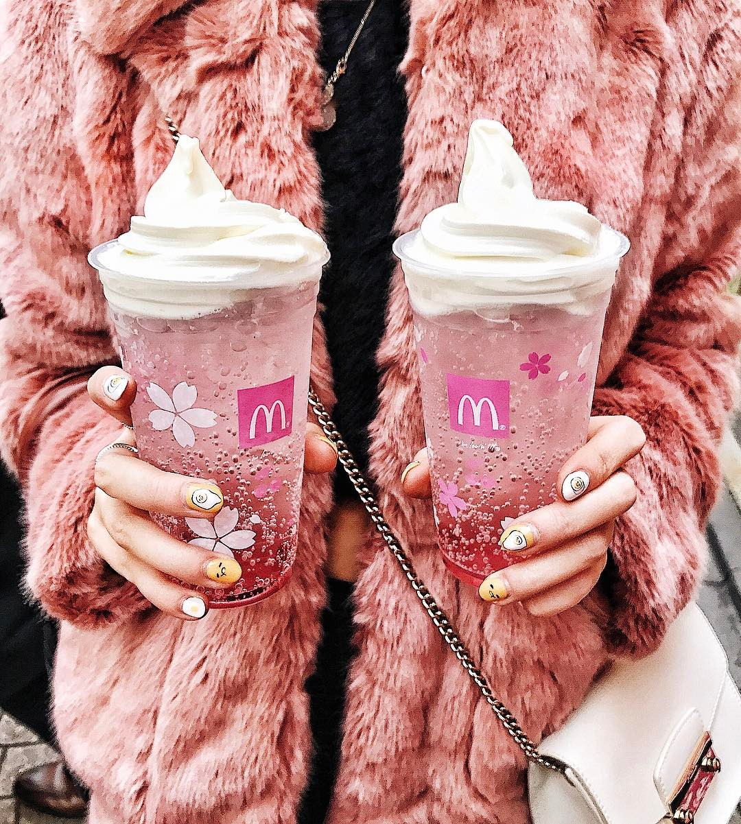 McDonald's cherry blossom float is a pink drink paradise