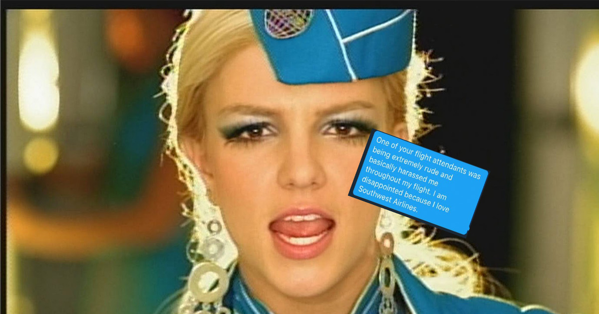 Someone trolled Southwest Airlines with a Britney Spears-themed prank, and their response might be the best thing ever