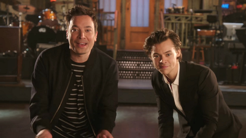 "The promos for ""SNL's"" first-ever coast-to-coast show with Jimmy Fallon and Harry Styles are here"