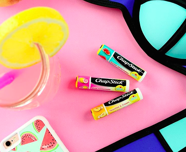 Chapstick's new summer collection will make you want to drink lemonade by the pool