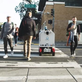This company created a robot that delivers food, so you'll never have to see a human again