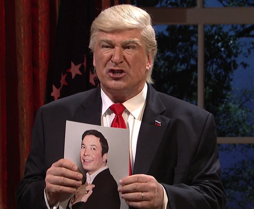 "Jimmy Fallon has joined the Trump administration on ""Saturday Night Live"" and he has his own theme music"