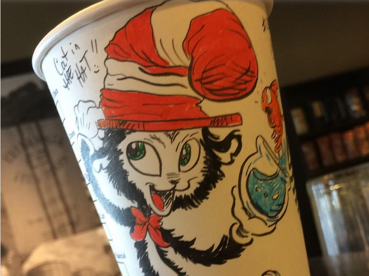 This Starbucks barista draws incredible caricatures on cups so fast they're done before the coffee is ready