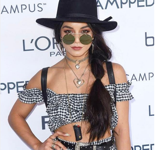 Vanessa Hudgens wore the cutest gingham top at Coachella, and here's how to copy her look