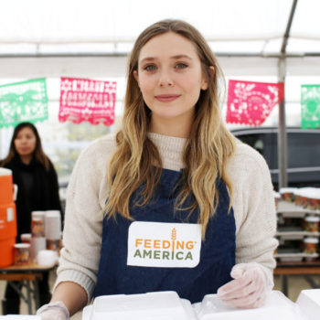 This Earth Day, Elizabeth Olsen wants to help you join the fight against domestic hunger