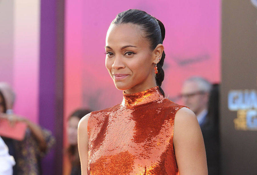 Zoe Saldana just made burnt orange our new favorite hue for spring