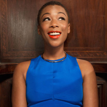 Samira Wiley just wore a suit that looks like the Earth from space, and we're super into it