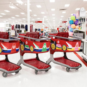 You can now use literal Mario Karts at Target, and dibs on Princess Peach's!