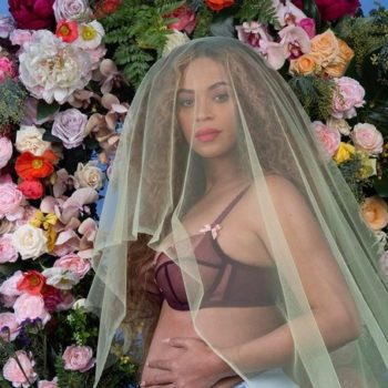 Beyonce's latest pregnancy fashion is pink hi-lo perfection