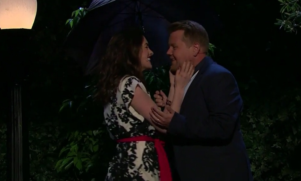 Anne Hathaway and James Corden made an entire rom-com musical together, and can we get these two a movie deal?