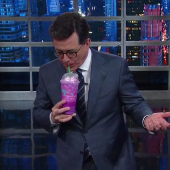 We adore the Unicorn Frappuccino, but Stephen Colbert hates it so much we can't stop laughing