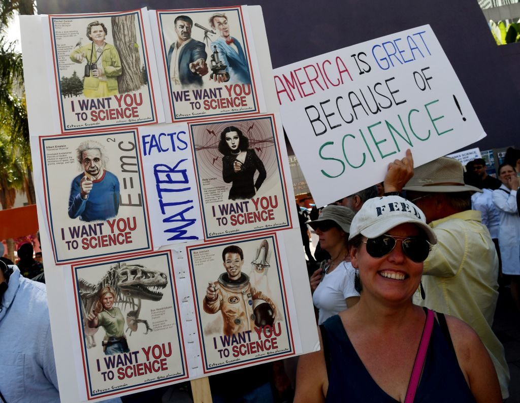 The March for Science's signs were next level, and some even went underwater!