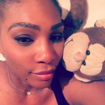Serena Williams penned a note to her baby-to-be
