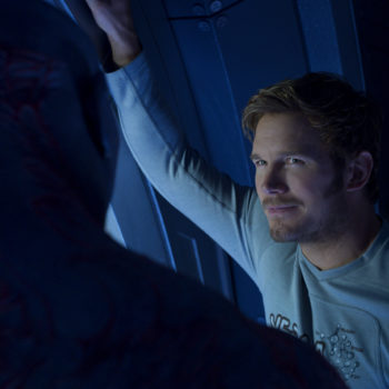 "What's Star-Lord's favorite snack? It's actually on his new ""Guardians of the Galaxy"" shirt"
