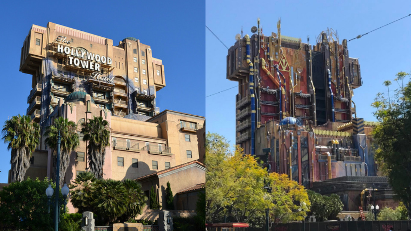The first pictures of Disneyland's new Tower of Terror are here, and they sure are something