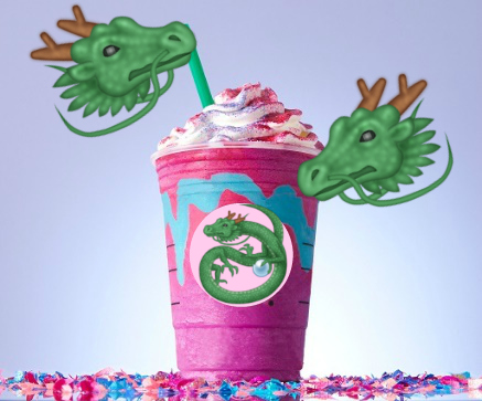 Starbucks also lowkey dropped a Dragon Frappuccino this weekend