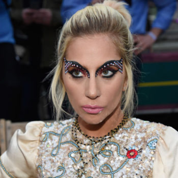 Lady Gaga subtly embraced the Unicorn Frappuccino hair trend