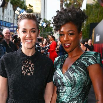 Samira Wiley and Lauren Morelli just walked their first red carpet together as wife and wife