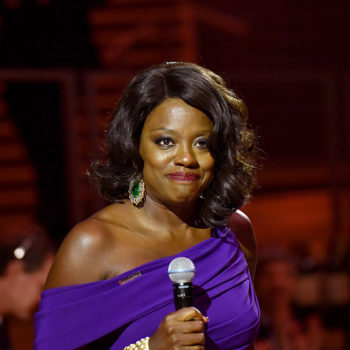 Red carpet queen Viola Davis was the belle of the ball once more in hypnotic purple gown