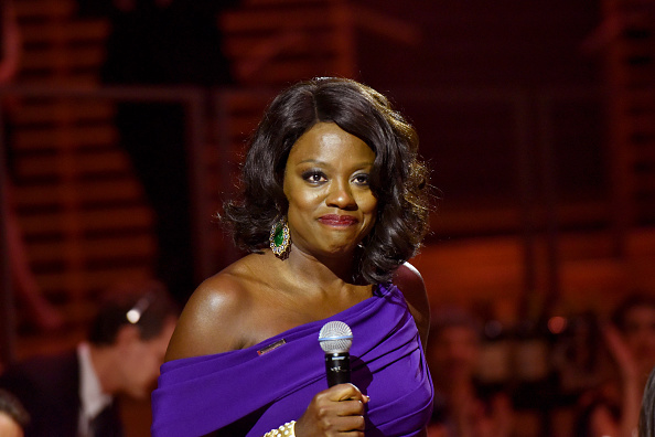 Red carpet queen Viola Davis was the belle of the ball once more in a hypnotic purple gown