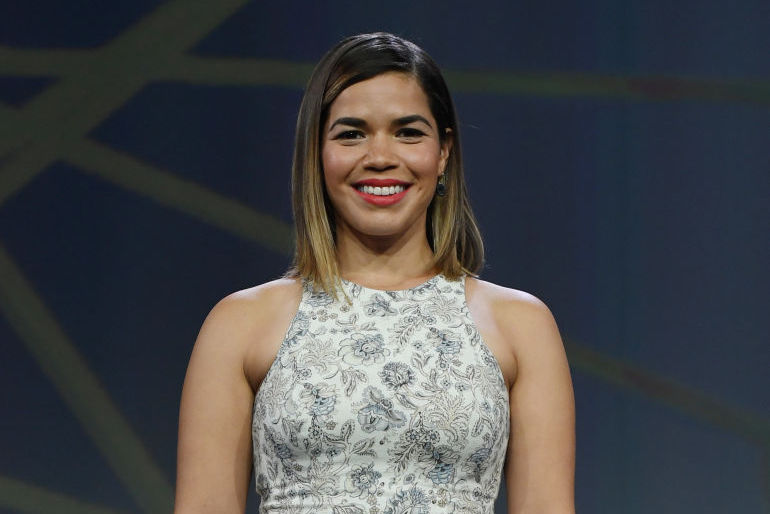 America Ferrera is ready to do the jitterbug at a sock hop in her '50s-inspired outfit